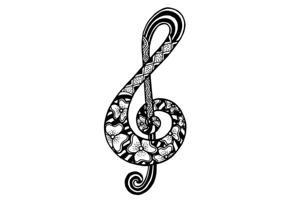 Music Key with Ethnic Ornament Graphic Illustrations By Santy Kamal
