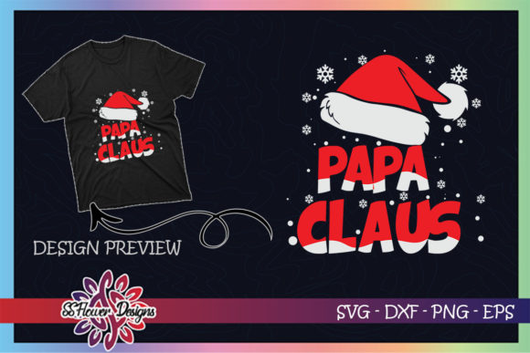 Papa Claus Christmas Family Graphic Print Templates By ssflower