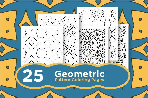 Print on Demand: Pattern Coloring Pages - Abstract Shape Graphic Coloring Pages & Books Adults By Riduwan Molla