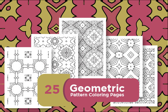 Print on Demand: Pattern Design - Abstract Pattern Graphic Coloring Pages & Books Adults By Riduwan Molla