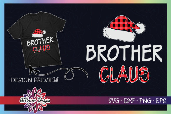 Red Plaid Brother Claus Matching Family Graphic Print Templates By ssflower