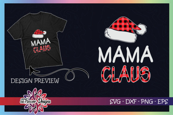 Red Plaid Mama Claus - Matching Family Graphic Print Templates By ssflower