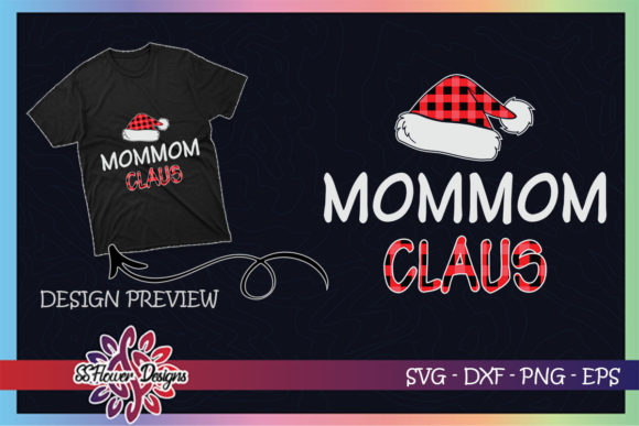 Red Plaid Mommom Claus - Matching Family Graphic Print Templates By ssflower