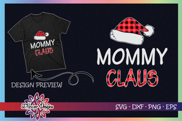 Red Plaid Mommy Claus - Matching Family Graphic Print Templates By ssflower
