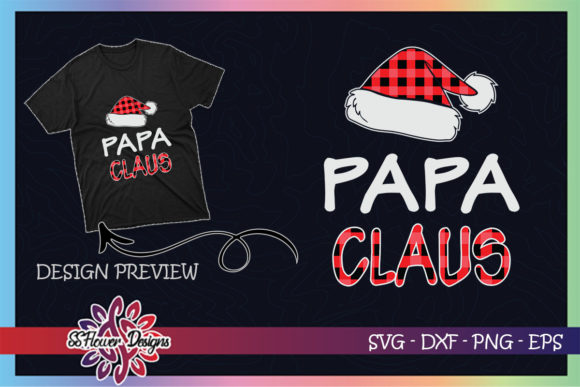 Red Plaid Papa Claus - Matching Family Graphic Print Templates By ssflower