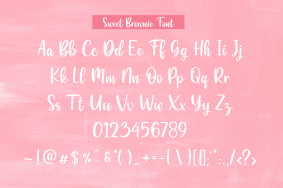 Sweet Brownie Font Preview