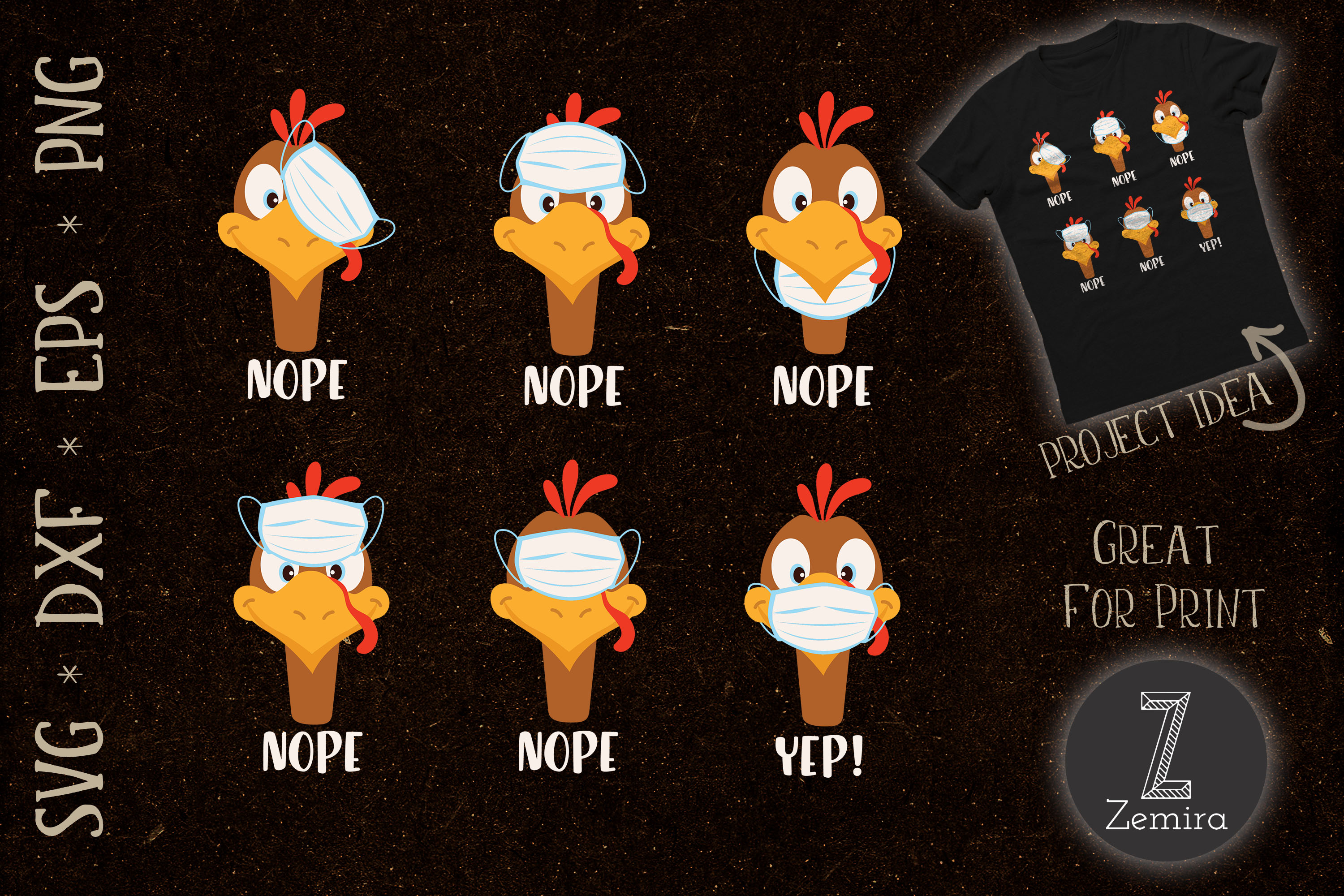 Thanksgiving 2020 Turkey Wear Mask Wrong Graphic By Zemira Creative Fabrica