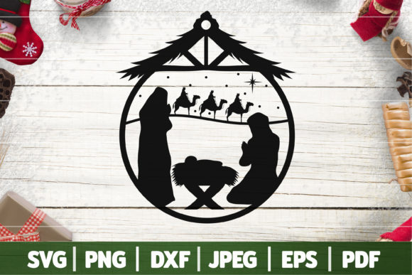 True Story Christmas Nativity Scene SVG, Graphic Crafts By SeventhHeaven Studios