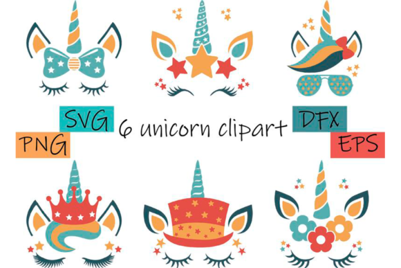 Unicorn Face Svg Clipart Graphic Objects By CuteShopClipArt