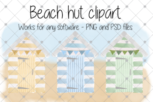 Print on Demand: Watercolour Clipart, Beach Hut, Beach, Graphic Illustrations By CommercialCliparts