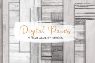 Print on Demand: White Wood Texture Backgrounds Graphic Backgrounds By loyaarts
