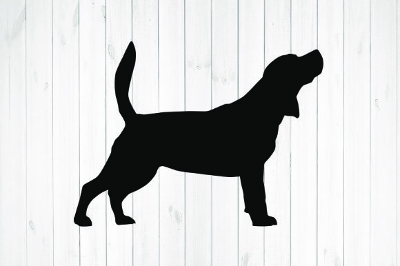 Print on Demand: Beagle Silhouette Graphic Illustrations By rayan