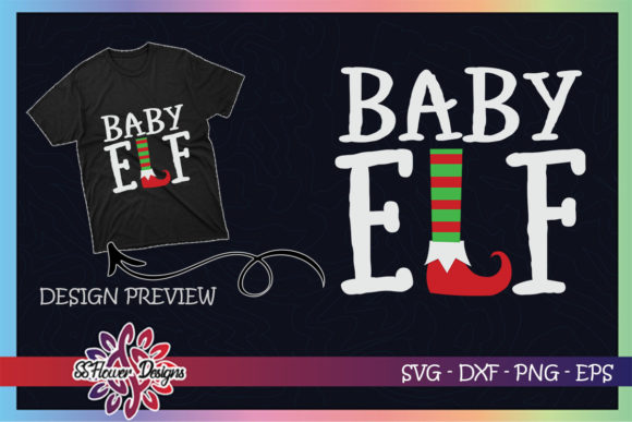 Baby ELF Christmas Graphic Print Templates By ssflower