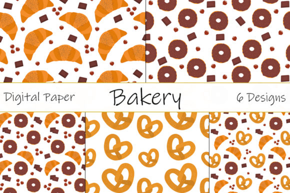 Baking Vector. Donuts Vector. Croissants Graphic Illustrations By shishkovaiv