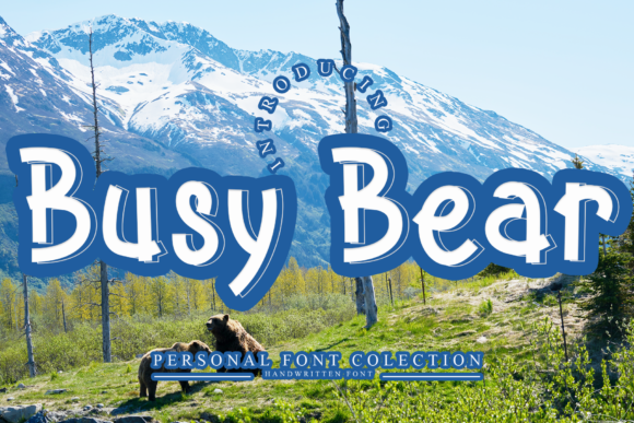Print on Demand: Busy Bear Display Font By giatstudios