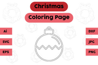 Christmas Coloring Page - Decoration 15 Graphic Coloring Pages & Books Kids By isalsemarang