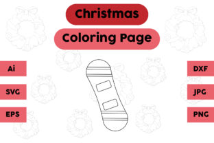 Christmas Coloring Page - Decoration 16 Graphic Coloring Pages & Books Kids By isalsemarang