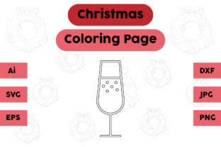 Christmas Coloring Page - Drink 01 Graphic Coloring Pages & Books Kids By isalsemarang