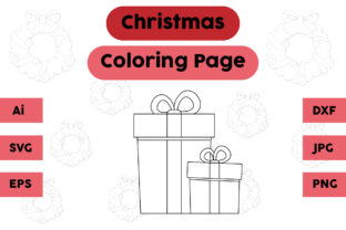 Christmas Coloring Page - Gift 08 Graphic Coloring Pages & Books Kids By isalsemarang