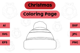 Christmas Coloring Page - Hat 09 Graphic Coloring Pages & Books Kids By isalsemarang