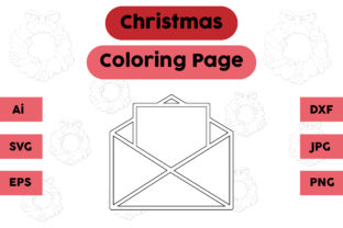 Christmas Coloring Page - Mail 01 Graphic Coloring Pages & Books Kids By isalsemarang