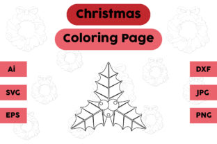 Christmas Coloring Page - Plum 05 Graphic Coloring Pages & Books Kids By isalsemarang