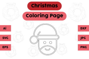 Christmas Coloring Page - Santa Claus 02 Graphic Coloring Pages & Books Kids By isalsemarang