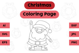 Christmas Coloring Page - Santa Claus 03 Graphic Coloring Pages & Books Kids By isalsemarang