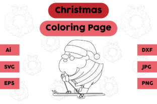 Christmas Coloring Page - Santa Claus 04 Graphic Coloring Pages & Books Kids By isalsemarang