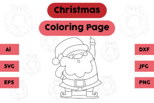 Christmas Coloring Page - Santa Claus 05 Graphic Coloring Pages & Books Kids By isalsemarang