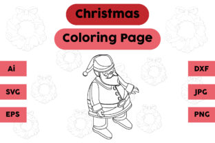 Christmas Coloring Page - Santa Claus 07 Graphic Coloring Pages & Books Kids By isalsemarang