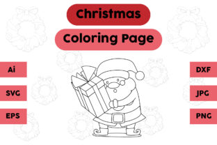 Christmas Coloring Page - Santa Claus Graphic Coloring Pages & Books Kids By isalsemarang