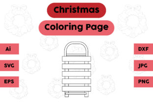 Christmas Coloring Page - Skating Graphic Coloring Pages & Books Kids By isalsemarang