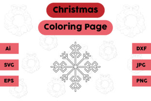 Christmas Coloring Page - Snow 01 Graphic Coloring Pages & Books Kids By isalsemarang