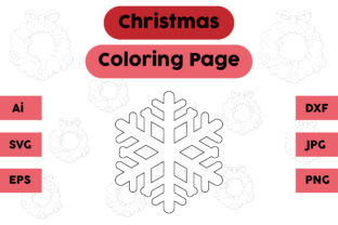 Christmas Coloring Page - Snow 02 Graphic Coloring Pages & Books Kids By isalsemarang