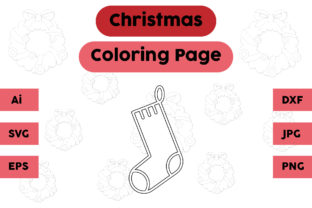 Christmas Coloring Page - Socks 11 Graphic Coloring Pages & Books Kids By isalsemarang