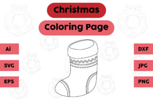 Christmas Coloring Page - Socks 12 Graphic Coloring Pages & Books Kids By isalsemarang