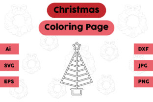 Christmas Coloring Page - Tree 06 Graphic Coloring Pages & Books Kids By isalsemarang