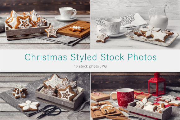 Print on Demand: Christmas Cookie Stock Photo Graphic Food & Drinks By AS Digitale