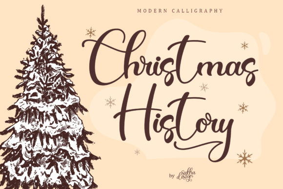 Print on Demand: Christmas History Script & Handwritten Font By Sakha Design