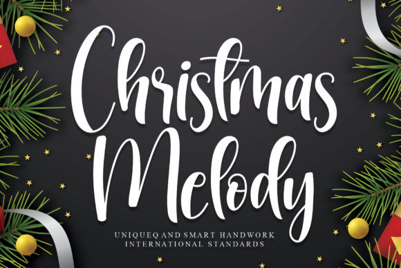 Print on Demand: Christmas Melody Script & Handwritten Font By andikastudio