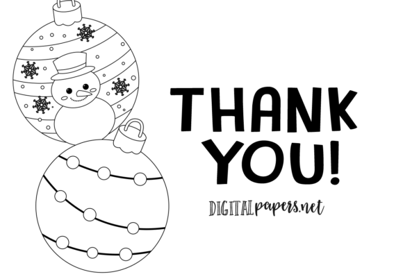 Christmas Ornaments Outlines Graphic Item