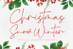 Print on Demand: Christmas Snow Winter Script & Handwritten Font By andikastudio