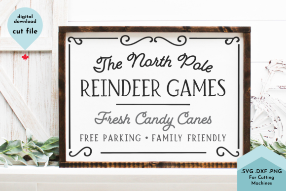 Print on Demand: Christmas Sign Svg, Reindeer Games Graphic Crafts By Lettershapes