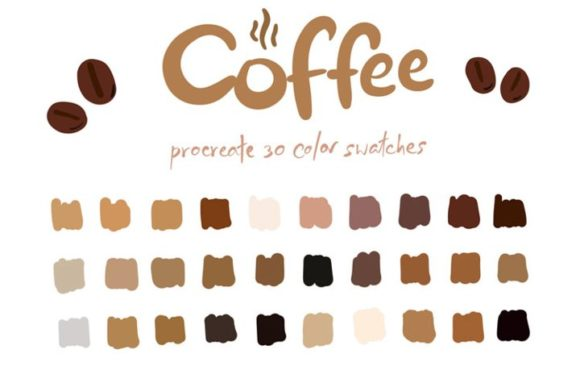 Coffee - Procreate Color Palettes Graphic Add-ons By Wanida Toffy