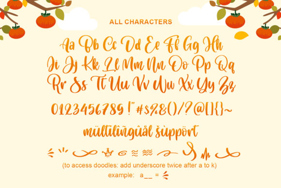 Cuteness Persimmon Font Preview