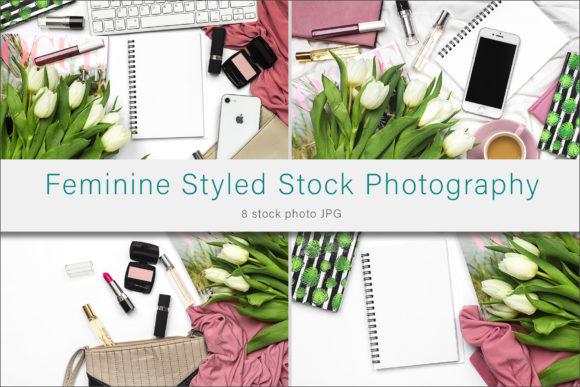 Print on Demand: Feminine Stock Photo Bundle Graphic Photos By AS Digitale