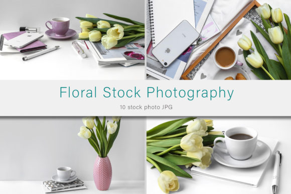 Print on Demand: Floral Stock Photo Bundle Graphic Photos By AS Digitale