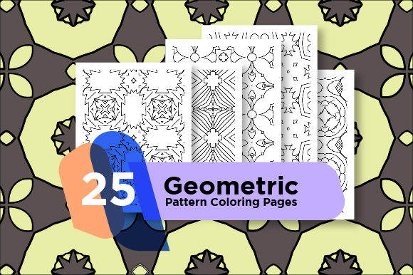 Print on Demand: Geometric Coloring Pages Set Gráfico Libros para colorear - Adultos Por Riduwan Molla
