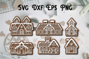 Print on Demand: Gingerbread Christmas Svg File Cut Graphic Print Templates By dadan_pm